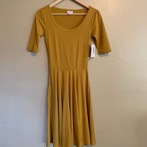 LuLaRoe • Gold Nicole Dress • XXS